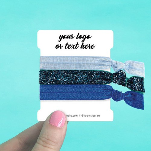 "Set of 58 2.5 x 3"" Rounded Rectangle Hair Tie Display Cards"