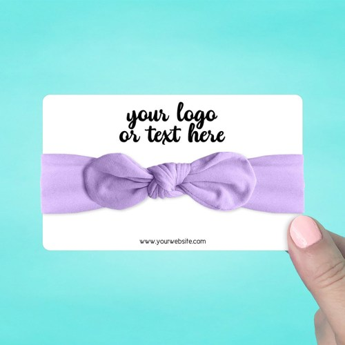 "Set of 30 5 x 3"" Rounded Rectangle Hair Band Display Cards"