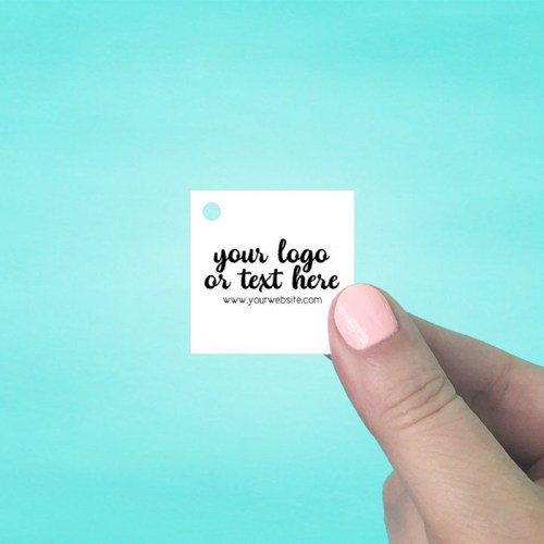 "Set of 115 1.5 x 1.5"" Square Hang Tags"