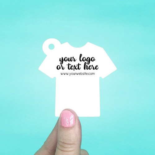 "Set of 46 2.5 x 2.5"" T-Shirt Shaped Hang Tags"