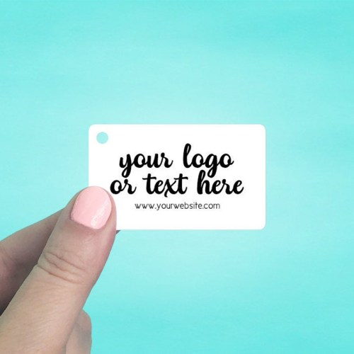 "Set of 75 2.5 x 1.5"" Rounded Rectangle Shaped Hang Tags"