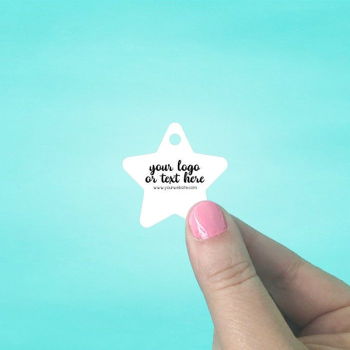 "Set of 115 1.5 x 1.5"" Star Shaped Hang Tags"