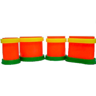 Plastic Casting Rings W/base 4pc