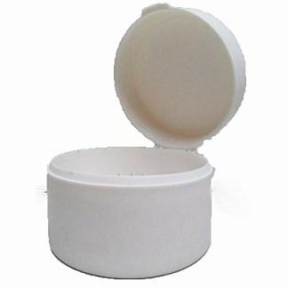 Cotton Roll Round Dispenser - White