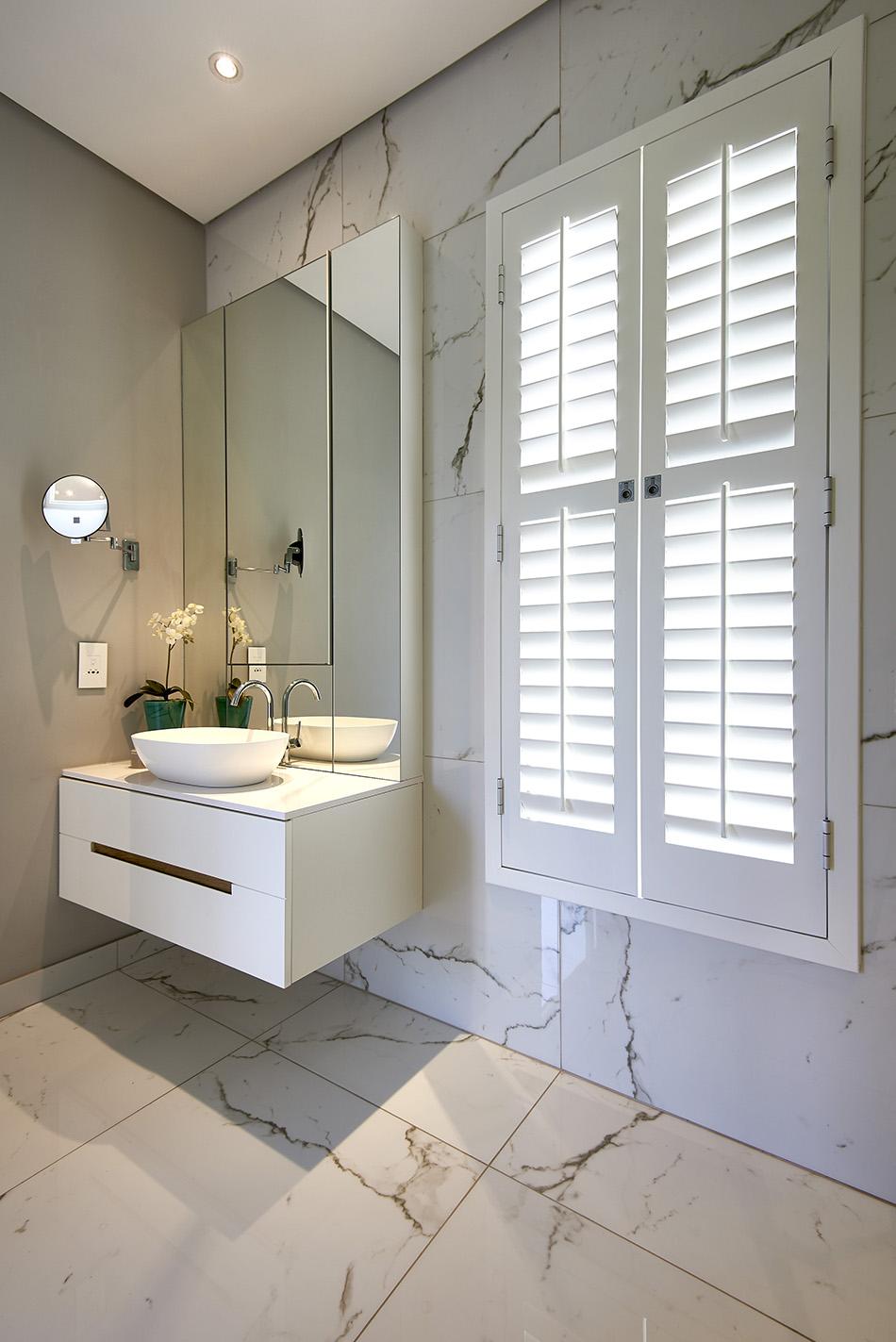Plantation Shutters In A Bathroom Sa Decor Design