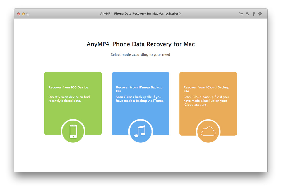 AnyMP4 iPhone Data Recovery Mac OS X