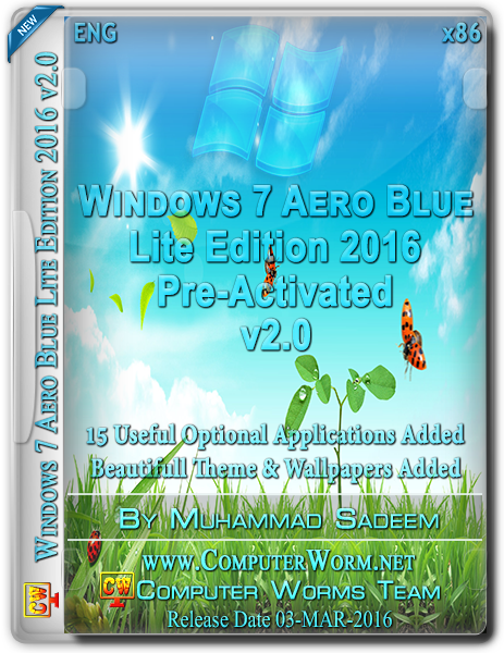 Windows 7 Aero Blue 2016 v2.0