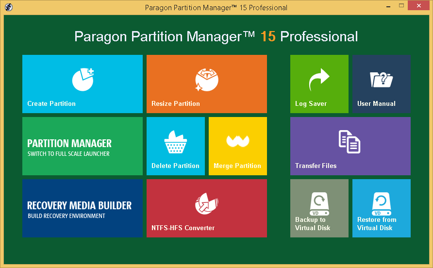Paragon Partition Manager 15 Professional Full Crack