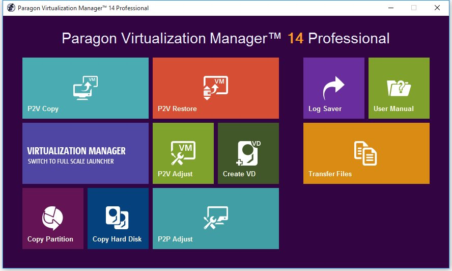 Paragon Virtualization Manager 14 Professional License Key Full Version