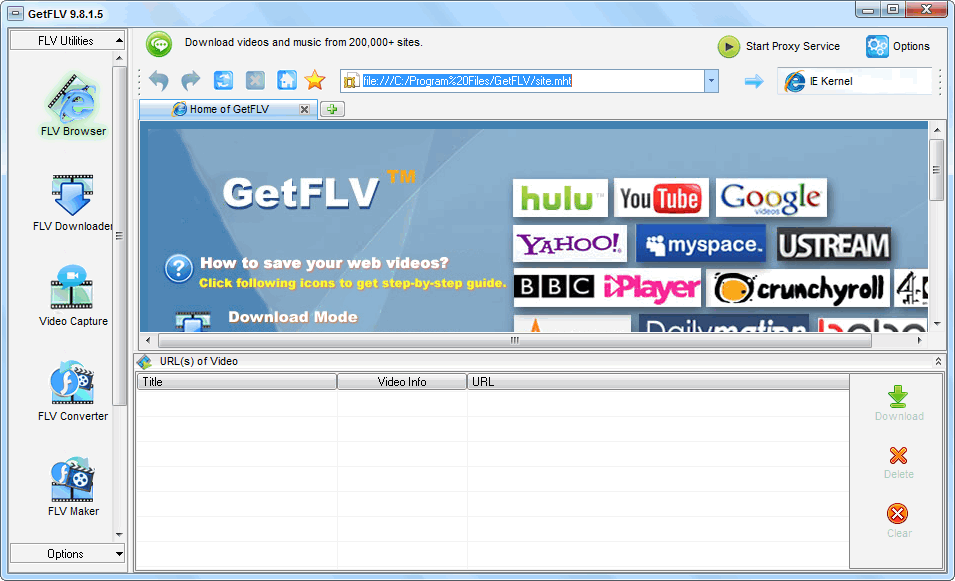 GetFLV Pro Crack Patch Keygen Serial Key