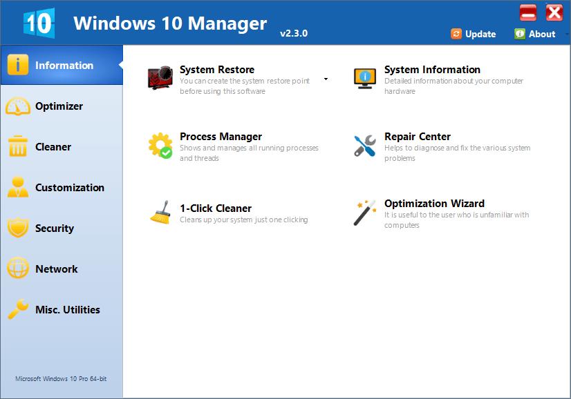 Yamicsoft Windows 10 Manager Full Cracked