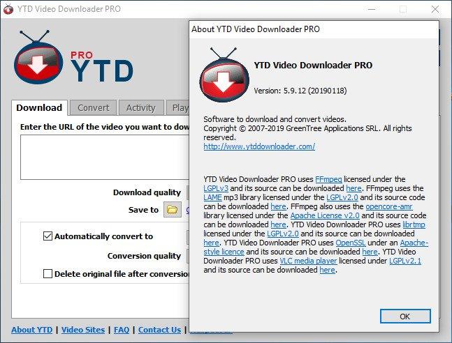 YTD Video Downloader Pro Crack Serial key