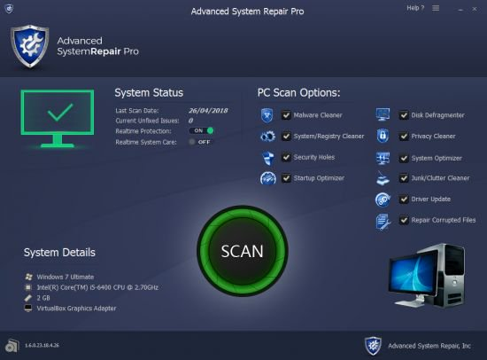 Advanced System Repair Pro 1.9.4.1 + License Key Latest 2021 Free Download