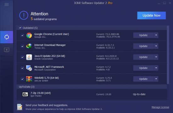 IObit Software Updater Pro Crack Serial Key