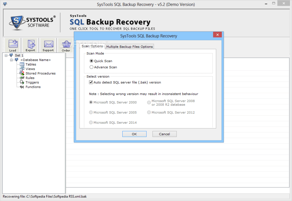 SysTools SQL Backup Recovery Crack Serial Key