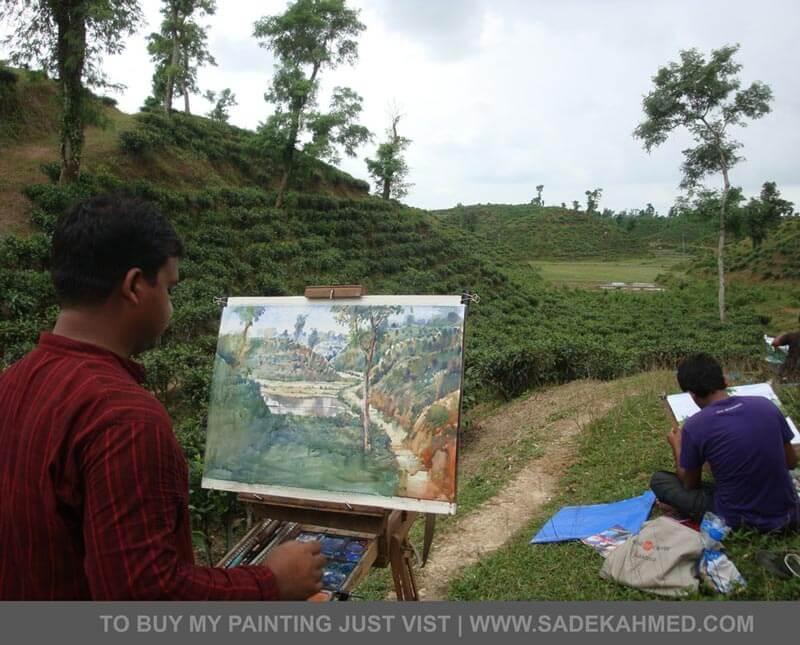 artist of Bangladesh, watercolor artist, Bangladeshi Artist, old dhaka, old dhaka Painting
