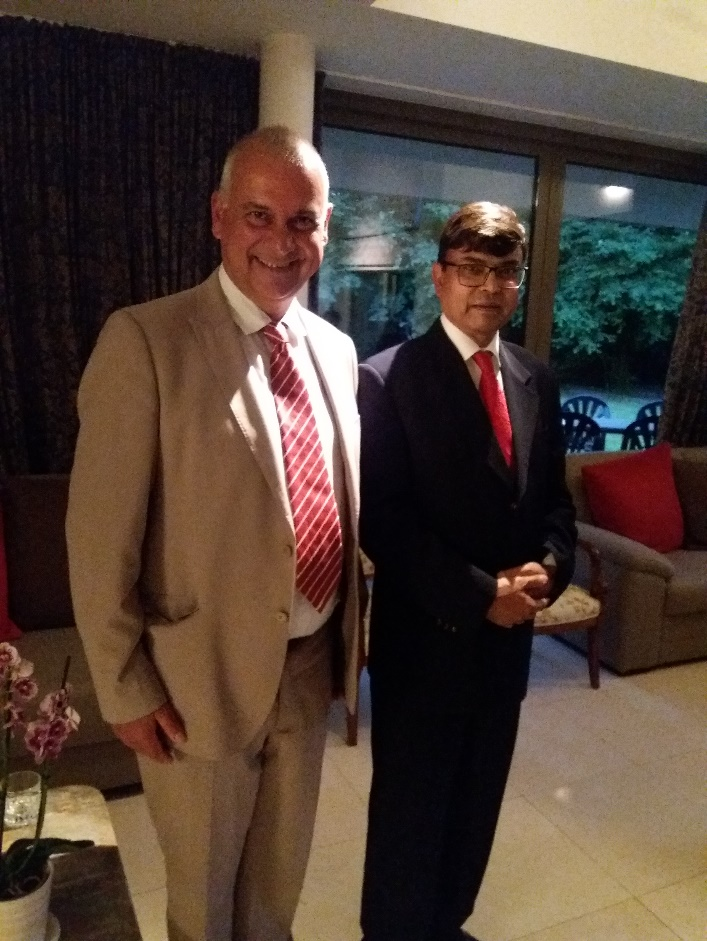 , Paulo Casaca attends reception-dinner at Bangladesh House
