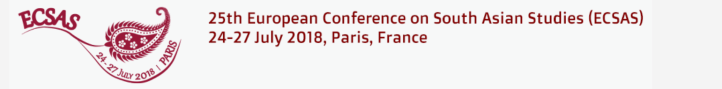 , 25th European Conference on South Asian Studies (ECSAS) in Paris