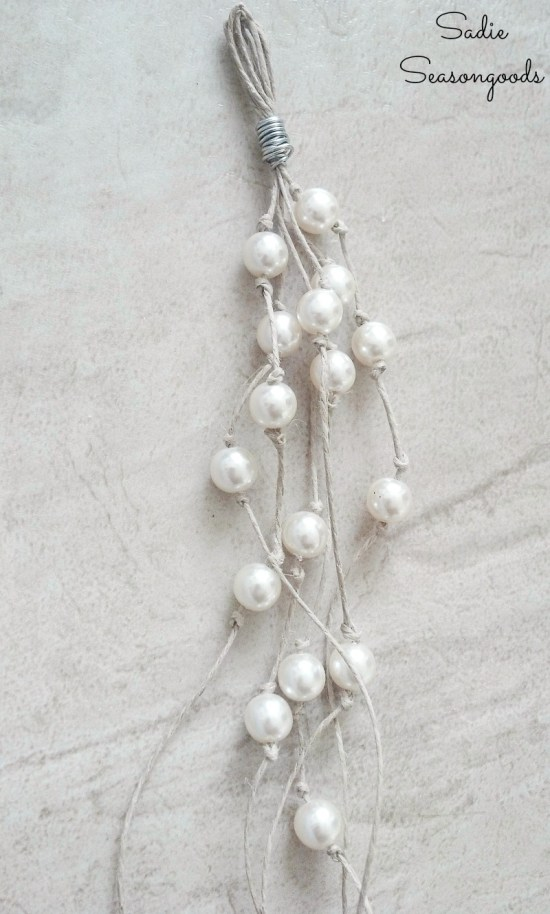Beach jewelry by upcycling the vintage pearls from thrift store jewelry