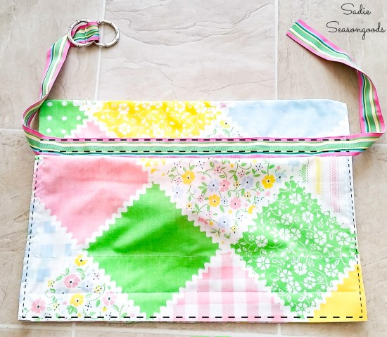 Sewing a waist apron from a vintage pillowcase
