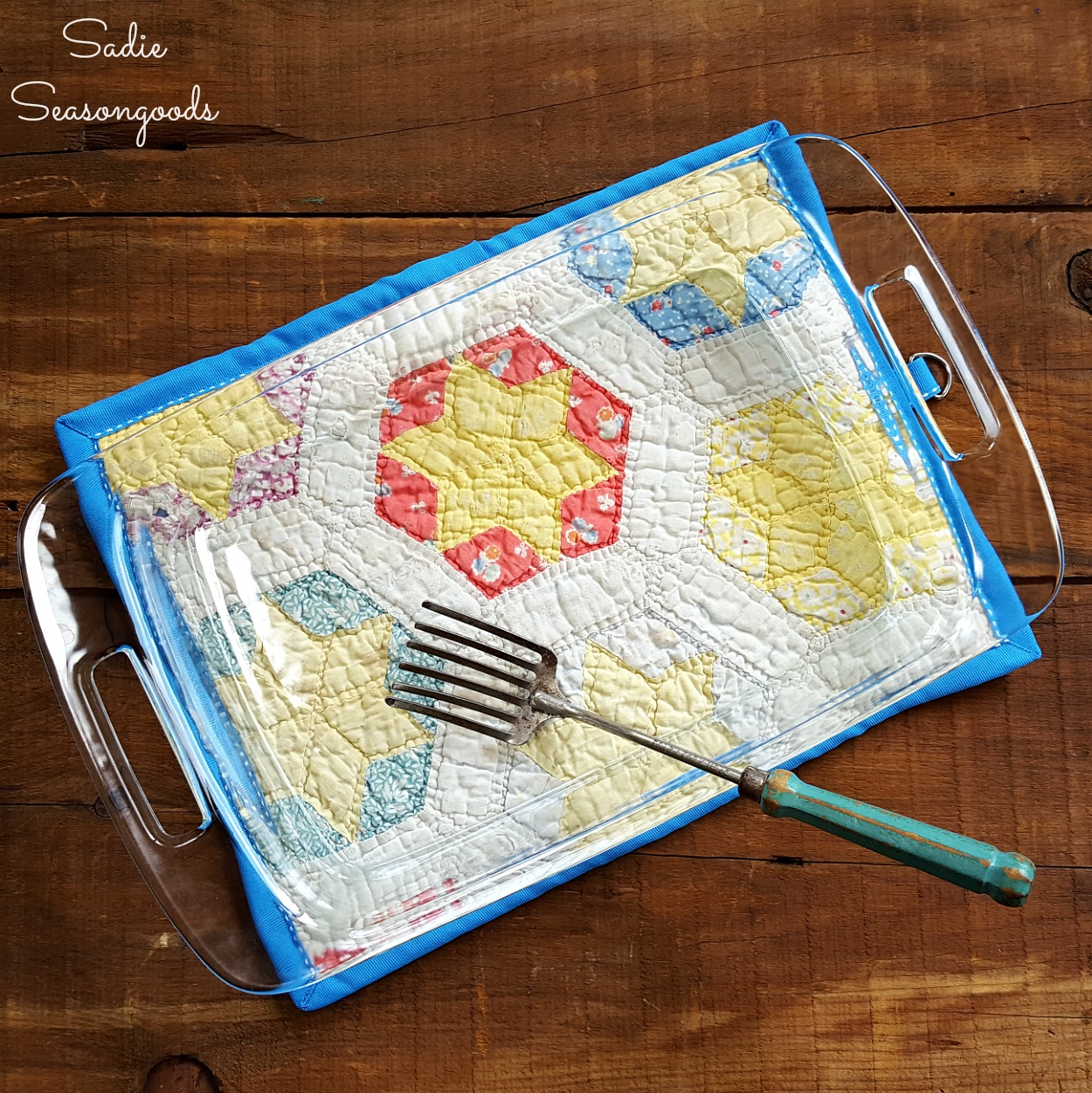 kitchen hot pads portable cabinets country quilts turned into a potholder pad for baking dish or made from