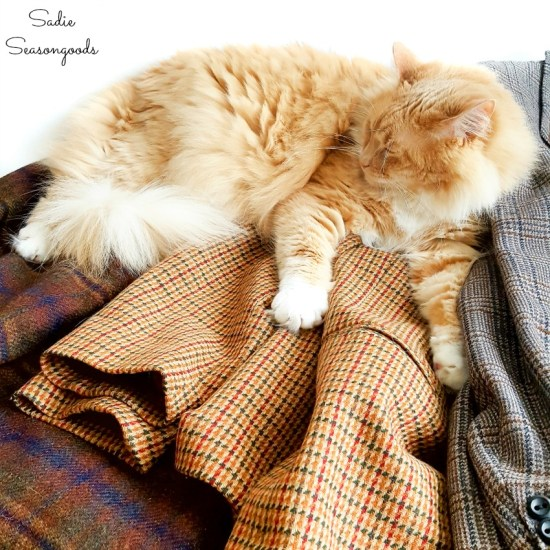 Tweed jackets for easy upcycling projects