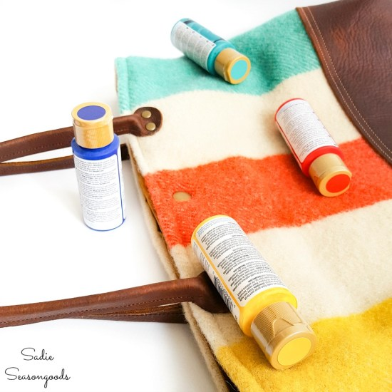 Hudson Bay colours in acrylic craft paint