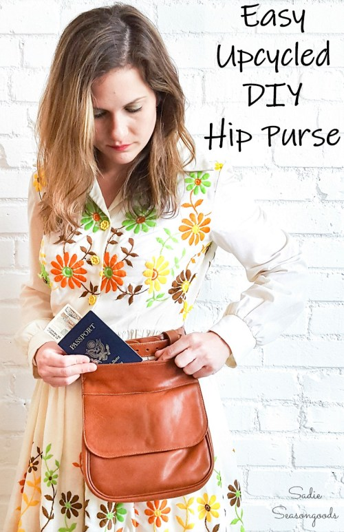 How to repurpose a thrift store handbag as a hip pouch