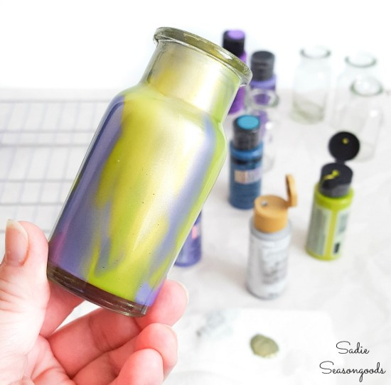 Halloween potion bottles with color shift paint