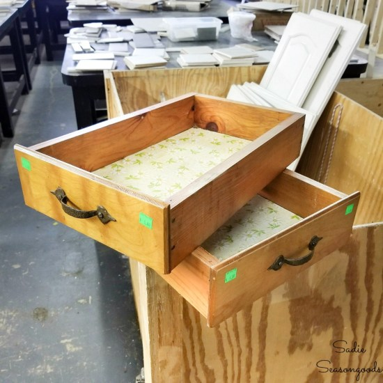 Wooden drawers for upcycling ideas and repurposing projects
