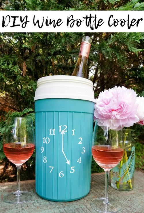 Upcycling an Igloo Beverage cooler as a wine chiller bucket