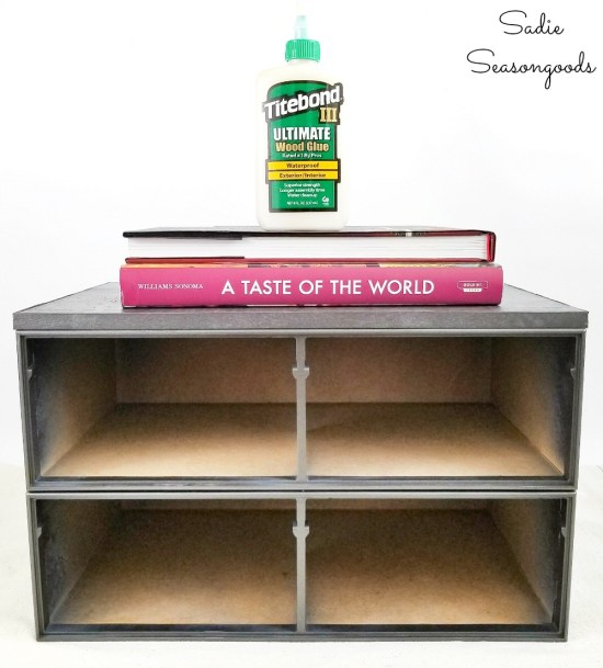Building an industrial side table with VHS storage or tape drawers