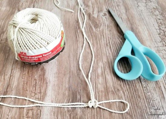 Making the netting for Glass fishing floats