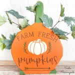 Pumpkin Patch Sign from a Wooden Paper Plate Holder
