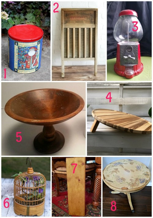 Upcycled thrift store items by the Thrift Store Decor Team - November 2018 - with Sadie Seasongoods