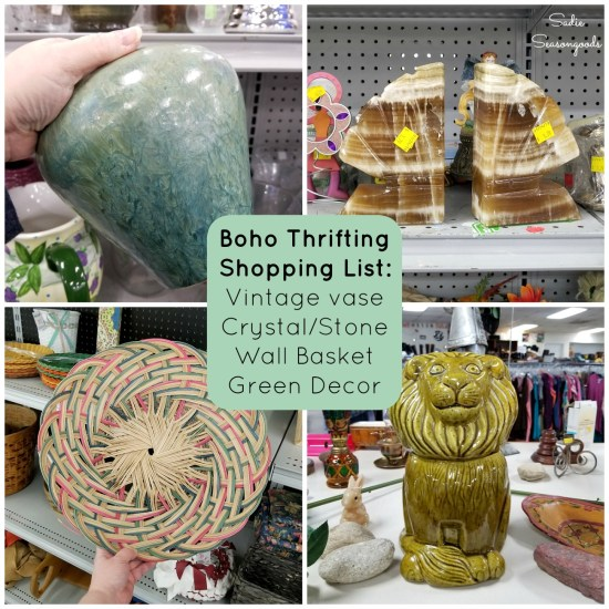 Thrift Store finds for boho room decor and bohemian style decor