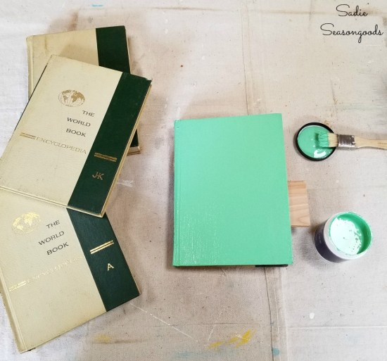What to do with old books like painting them in boho colors