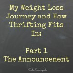 My Weight Loss Journey - The Announcement