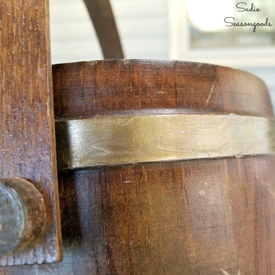 Petroleum jelly for distressing paint on vintage home decor