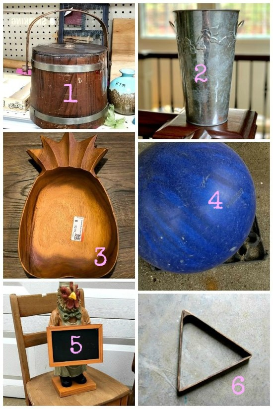 Thrift Store Decor Team April 2019 Thrifted finds for upcycling projects