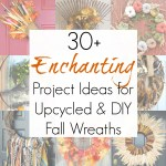 30+ Upcycled Autumn and Fall Wreath Ideas for Your Front Door