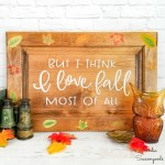 Fall Leaves Decor with an Autumn Sign