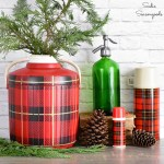Plaid Christmas Decor with a Faux Skotch Kooler