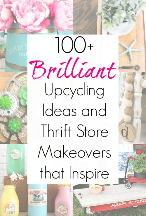 Upcycling Ideas for Thrift Store Items and Secondhand Shopping from the Thrift Store Decor Team