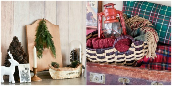 Cabin decor and lodge decor with upcycling ideas for items from the thrift store