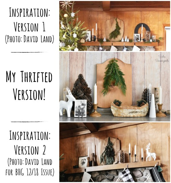 Thrift store decor for a winter cabin or lodge decor and repurposing craft projects