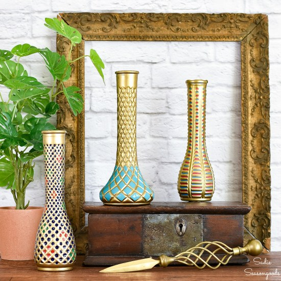 Cloisonne vase from a clear glass vase for classic decor