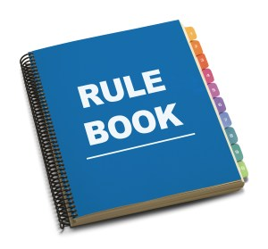 Sports organization rule book