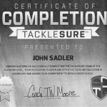TackleSure Certificate