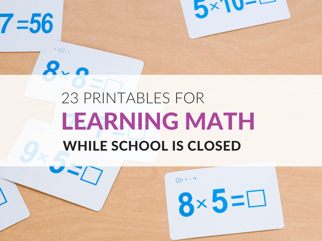 medium resolution of 23 Printables for Learning Math While School is Closed